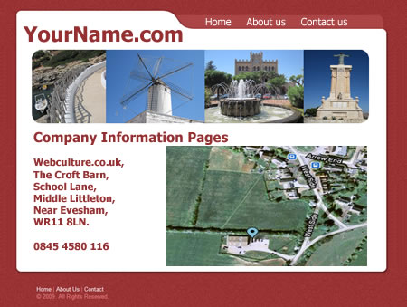 Company Info Pages